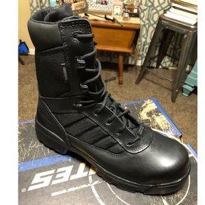Bates 8in zip side composite toe boots